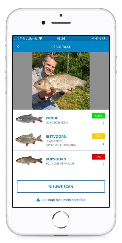 Welke vis heb ik gevangen? Gebruik de gratis VISsenscanner!